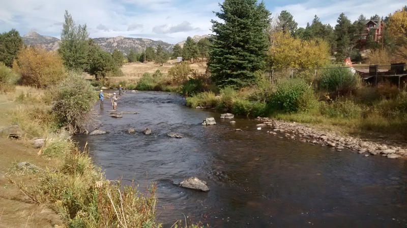 The Big Thompson River runs from the Rockies in Estes Park across the plains into Weld County. This stretch suffered significant damage in the floods of 1976 and 2013.
