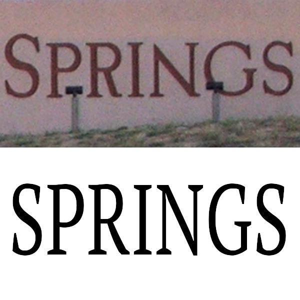 Why is the n in the colorado springs welcome sign upside down the sign above as compared to a similar serif style font below malvernweather Images