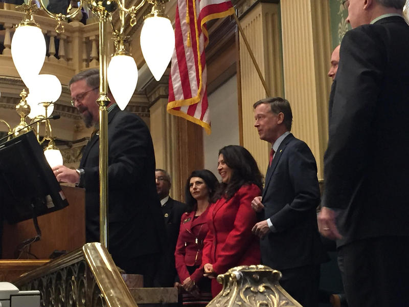 Governor John Hickenlooper is ready to take the podium for his State of the State Address.
