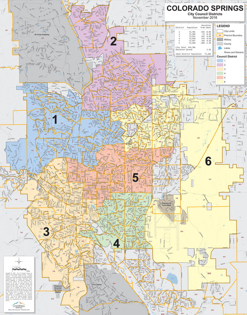 Colorado Springs City Council Districts