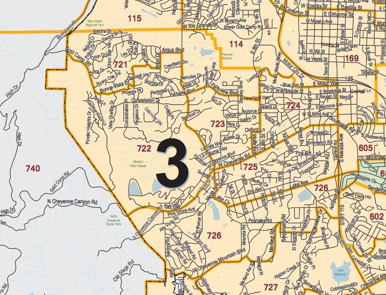 A Cropped Image of City Council District 3