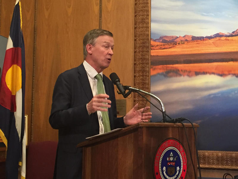 "Gov. Hickenlooper told reporters, ""It is my belief that this is a unique event, but I'm not going to relax and just make that assumption."""