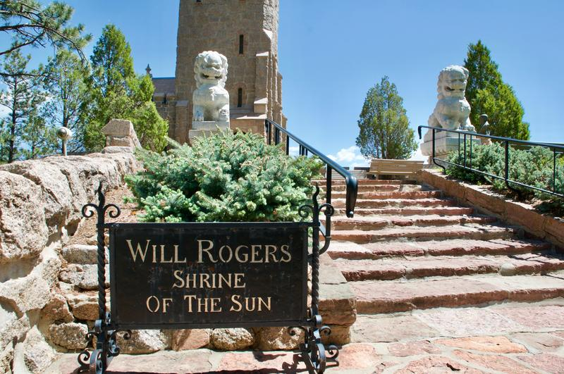 The entrance to the Will Rodgers Shrine of the Sun.