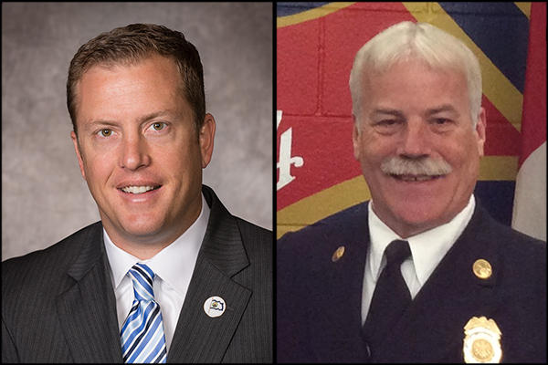 Bret Waters (left) is deputy chief of staff for the City of Colorado Springs, and Randy Royal (right) is deputy chief of support services for the Colorado Springs Fire Department.