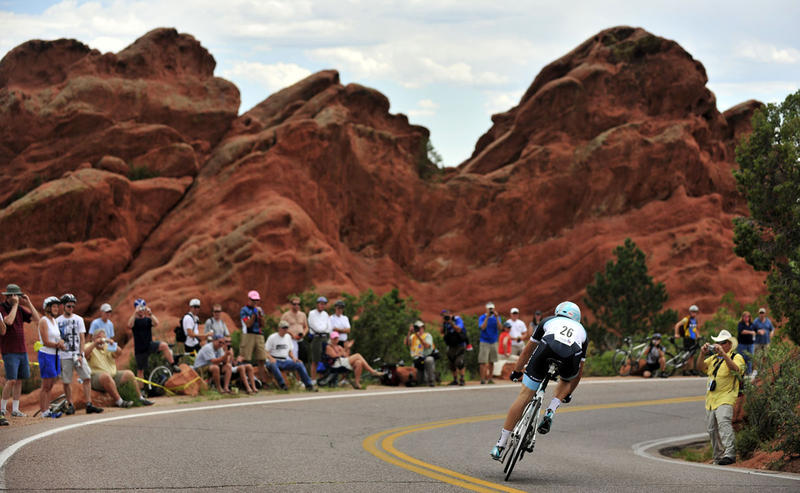 Pro cycling returns to Colorado Springs and the state with the Colorado Classic. Here, Bruno Pires, of Portugal, rides in the prologue of the USA Pro Cycling Challenge on Monday, Aug. 22, 2011, in Colorado Springs, Colo.