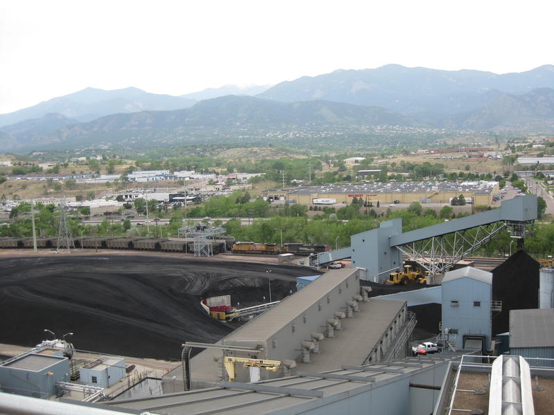 The view from atop Drake Power Plant in downtown Colorado Springs, June 2011.