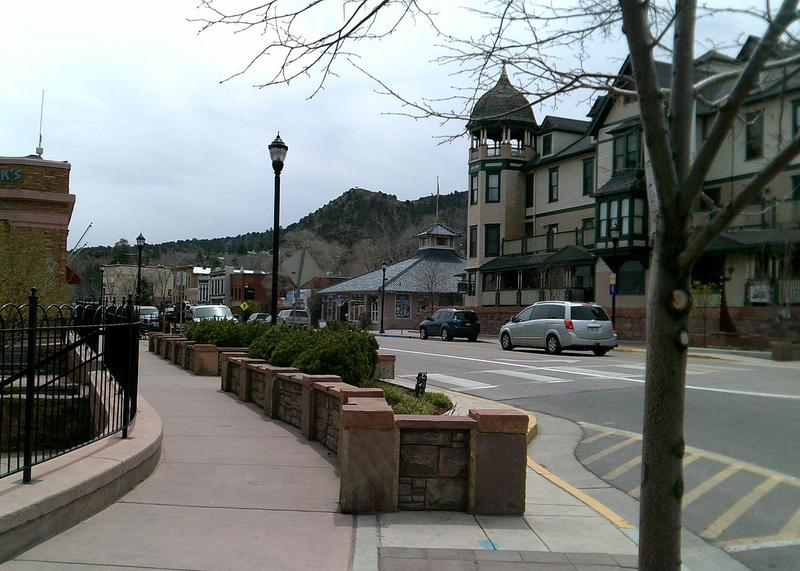 Manitou Avenue and Barker House, Manitou Springs.