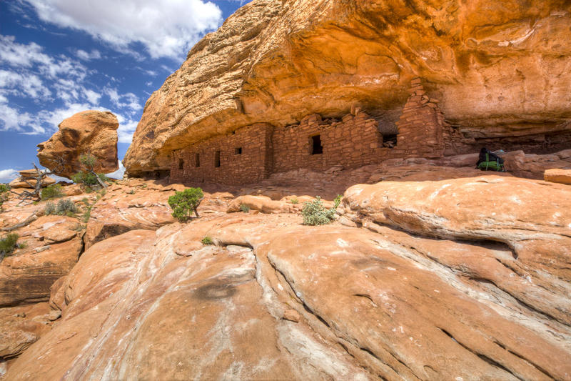 Anasazi dwellings line a cliff in Utah's Bears Ears National Monument, which the Trump administration shrank by 85 percent in December.