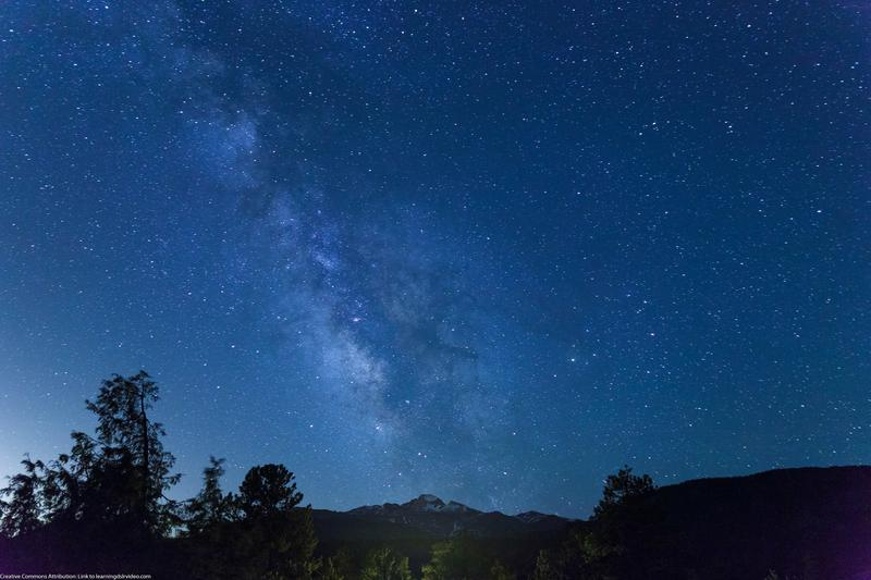 The Milky Way over Longs Peak in Colorado