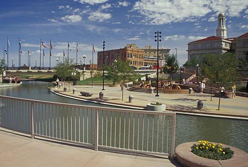 Pueblo's historic Arkansas Riverwalk.