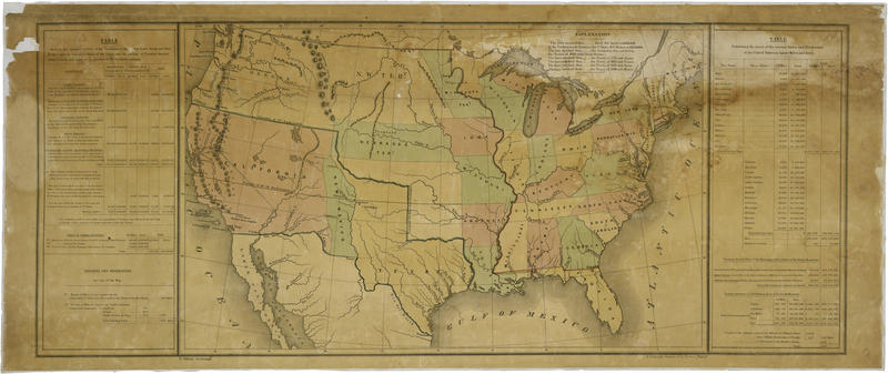 This map accompanied President James K. Polk's annual message to Congress in December 1848. It represents Polk's conception as a Southern Democrat of how to divide up the new territory acquired through the Treaty of Guadalupe-Hidalgo.