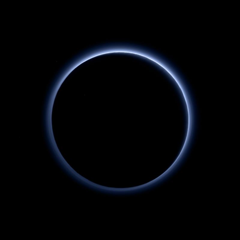 Blue skies / hazy layers of Pluto's atmosphere