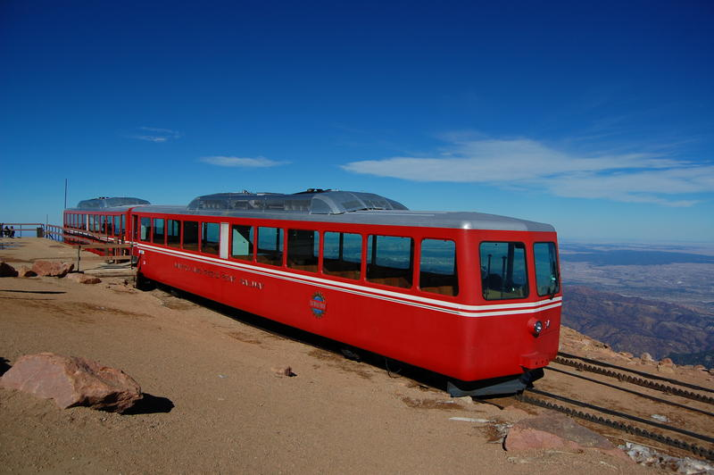 The Pikes Peak Cog Railway, a popular tourist attraction, has been closed since the fall of 2017.