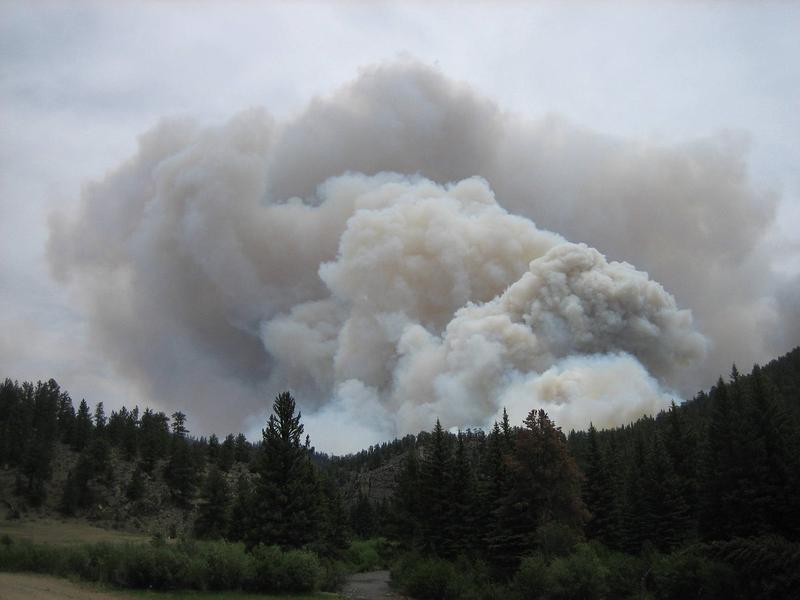 Smoke column from the High Park Fire near Fort Collins, CO in 2012