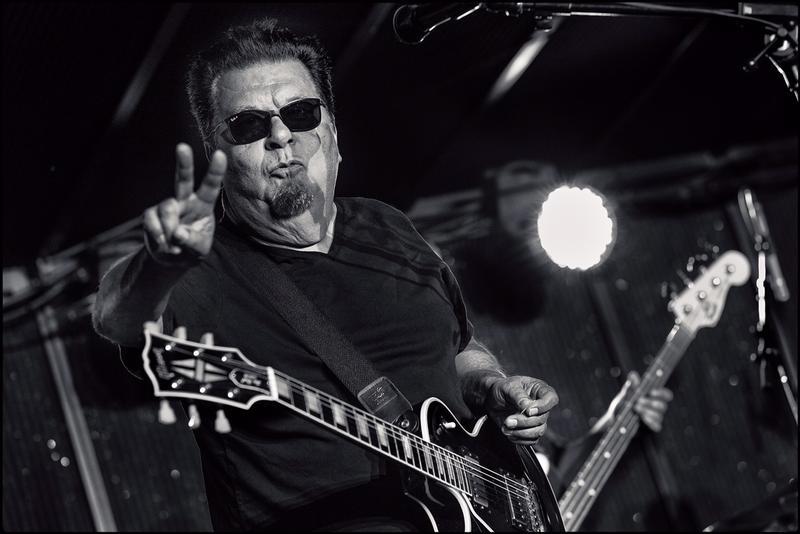 Los Lobos' Cesar Rosas, photographed by Matt Chmielarczyk at Blues Under The Bridge.