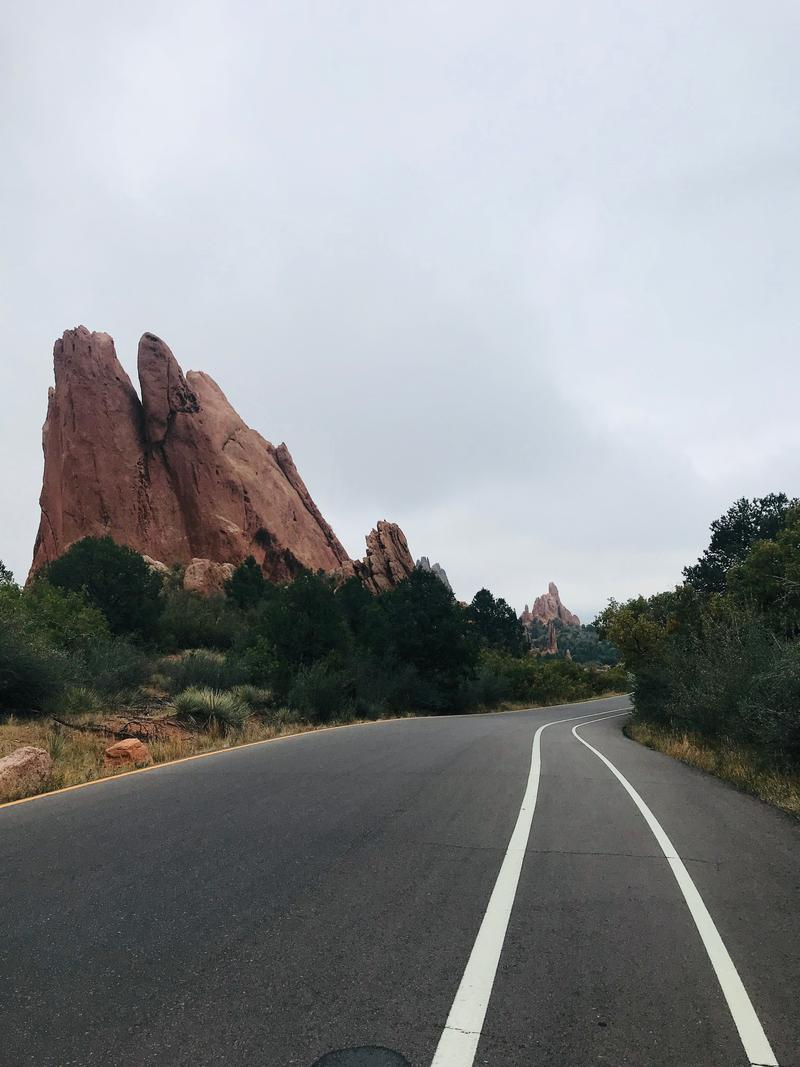 The roads through Garden of the Gods were empty Sunday morning for Motorless Morning.