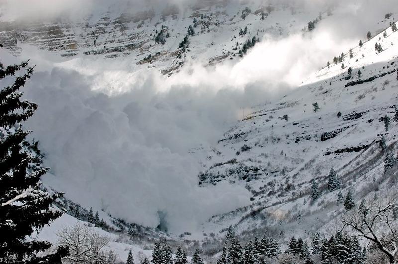 Avalanche on Mt. Timpanogos, Utah