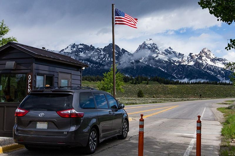 Entrance to Grand Tetons National Park
