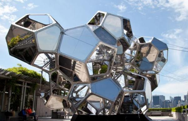 "Tomas Saraceno's ""Cloud City"" on the roof of the Metropolitan Museum of Art in New York earlier this year."