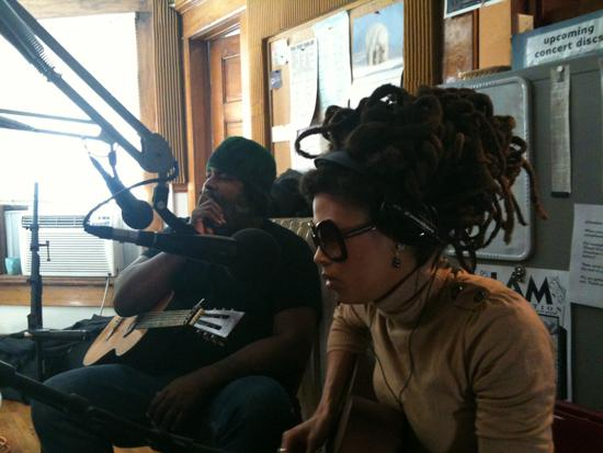Alvin Youngblood Hart and Valerie June in-studio, Jan. 2012
