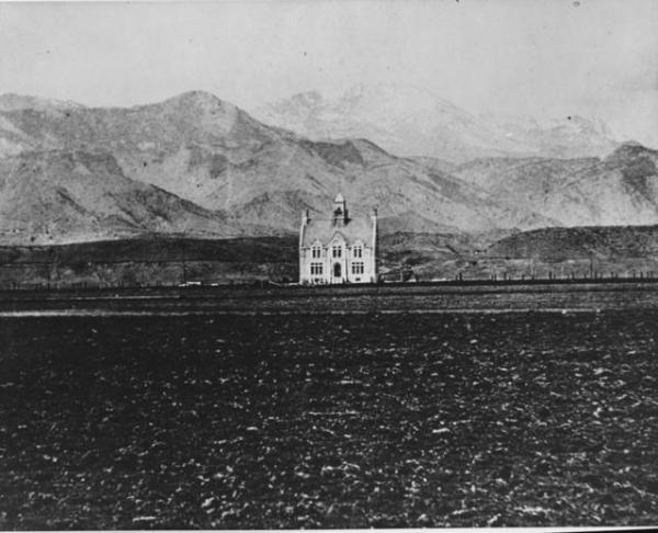 Cutler Hall, Colorado College, 1880.