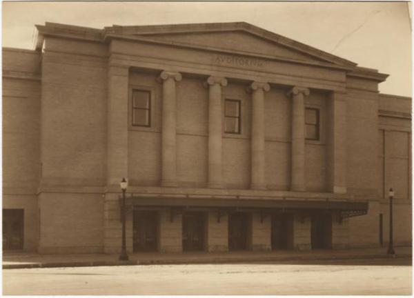 City Auditorium by Harry L. Standley, courtesy of Special Collections, Pikes Peak Library District.