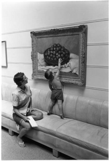 [Boy at Fine Arts Center] by Myron Wood,  June 1960. Copyright PPLD. Image Number: 002-5808.