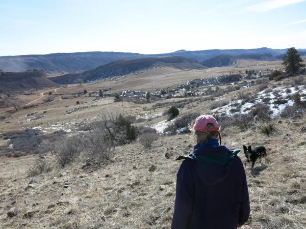 Ellen Nelson has battled invasive plants that out-compete native grasses on her grass-fed beef ranch near Bellvue, Colo. Some climate studies suggest that fight will worsen in the coming decades.