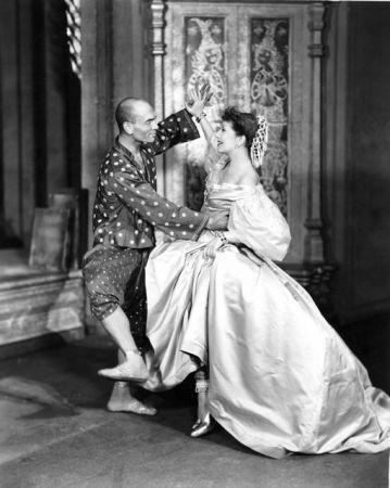 "Yul Brynner and Gertrude Lawrence in ""The King and I"""