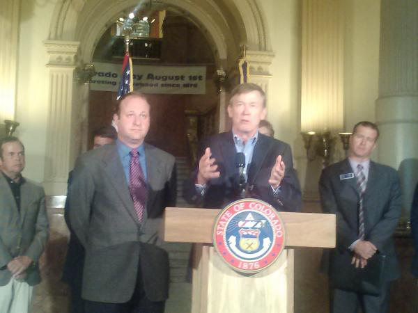 Congressman Jared Polis and Governor John Hickenlooper announce a deal on oil and gas to avoid a costly fight at the ballot box.