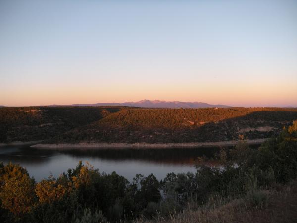 Sunset at McPhee Reservoir near Cortez. The reservoir provides crucial irrigation and municipal water to the Four Corners region.