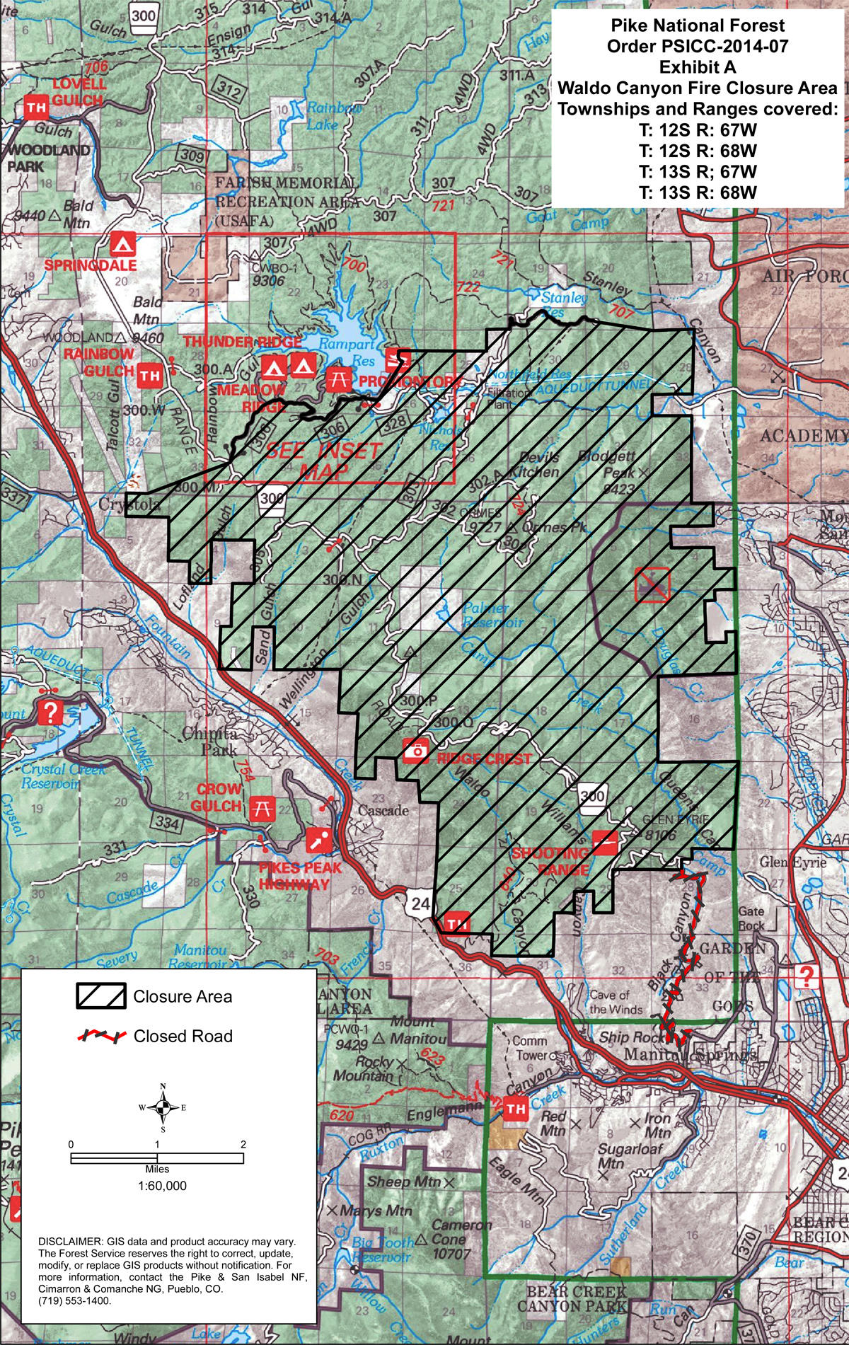 Us Forest Service Extends Waldo Canyon Closure Krcc