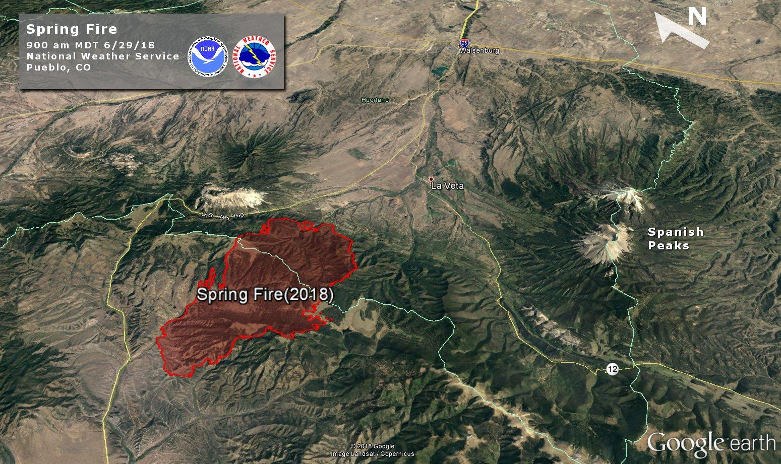 Update Spring Fire In Southern Colorado Expands To 24 000 Acres Krcc