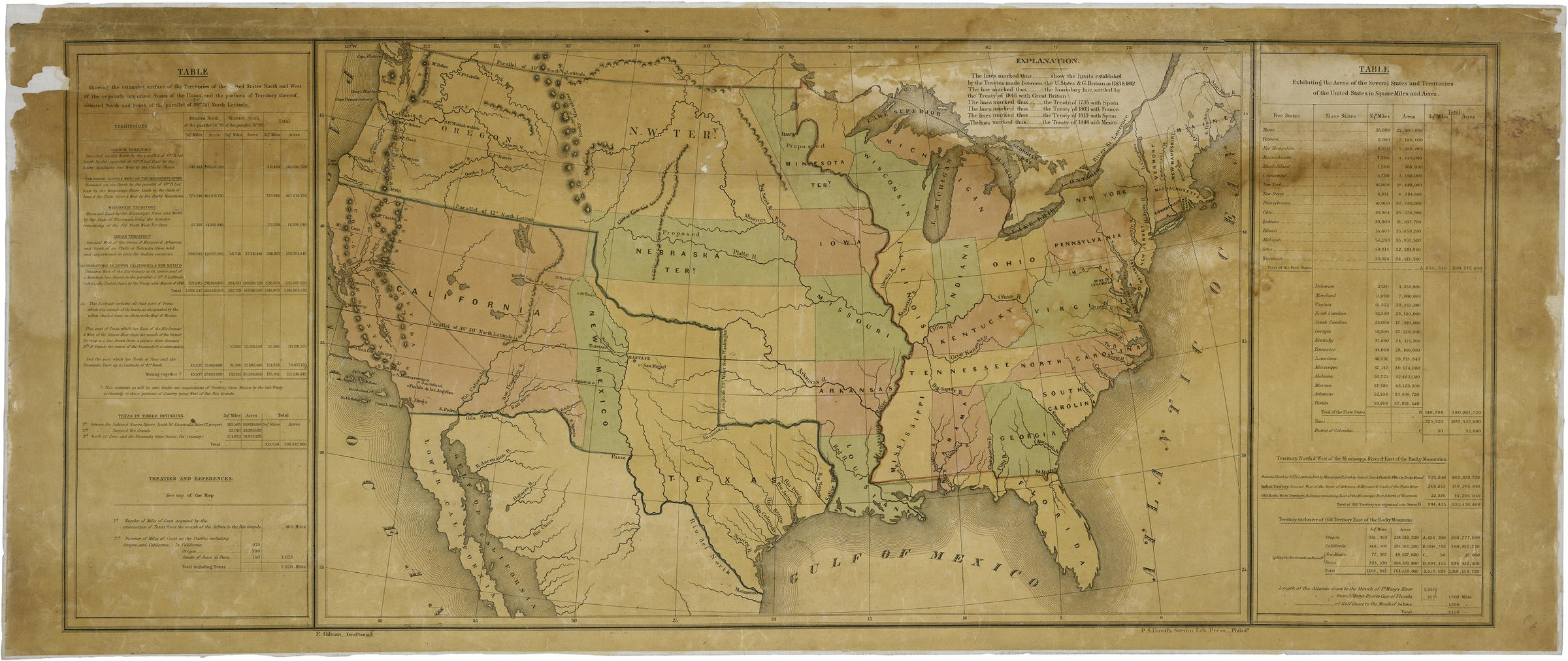 this map accompanied president james k polks annual message to congress in december 1848
