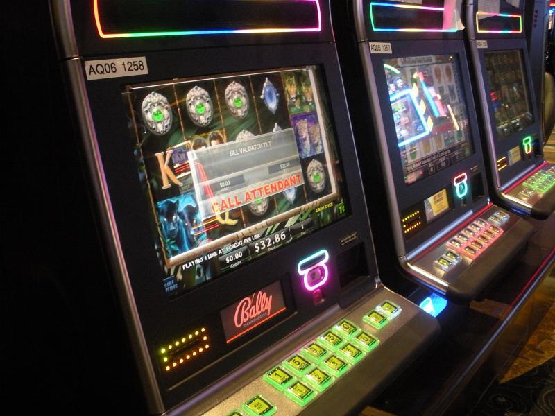 Slot machines at the Isle of Capri casino in Cape Girardeau, Missouri.
