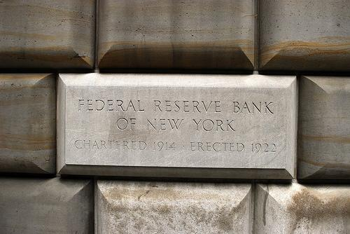 A cornerstone at the New Federal Reserve Bank.
