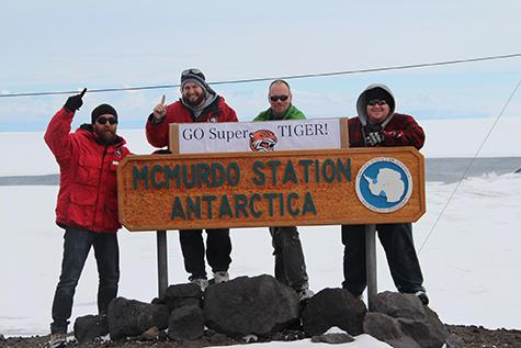 John E. Ward, Ryan Murphy, Thomas Hams and Sean Fitzsimmons are part of the skeletal team still in Antarctica as the Southern Hemisphere winter approaches.