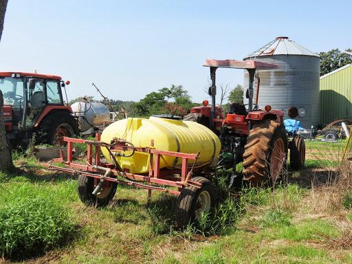 This farm equipment is one of the tools used to spray fields on the Don Proffitt farm in Pottersville, Missouri.