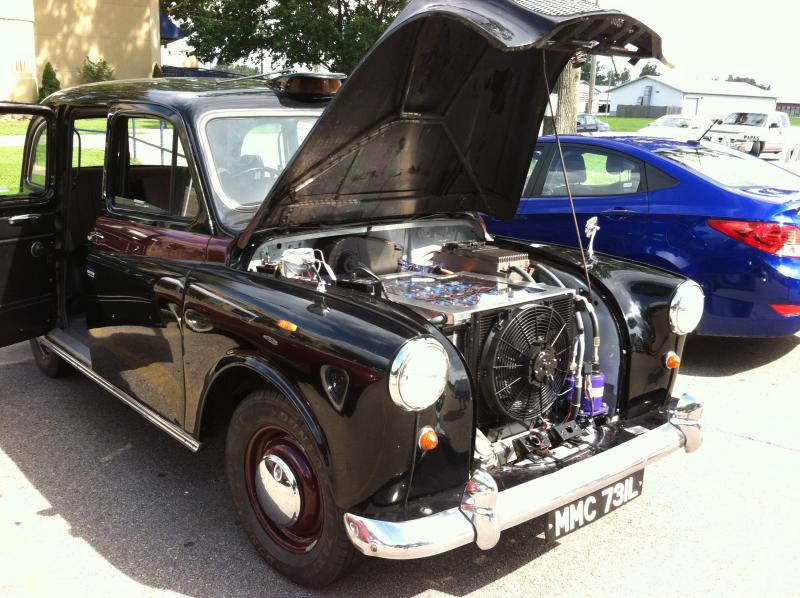 Brandon Hollinger converted this 1972 British Taxi into an electric car by watching EVTV.