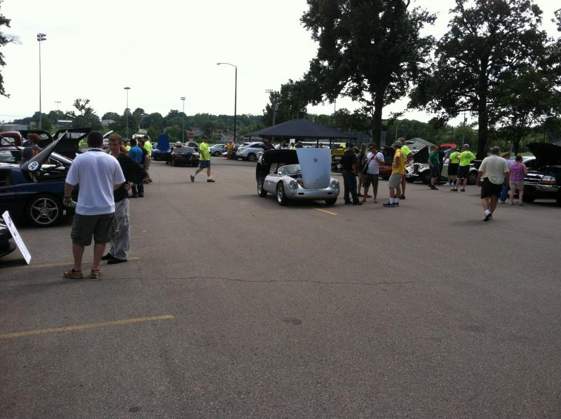A car show was held at Arena Park on Saturday.