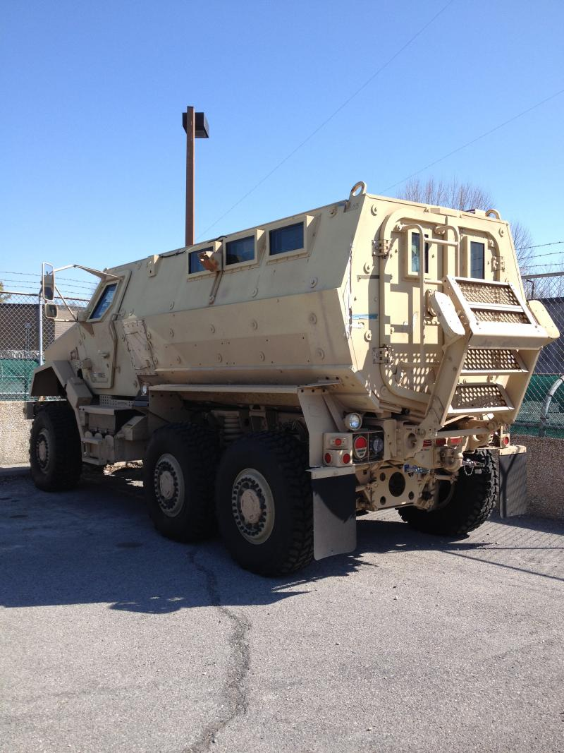 Cape Girardeau County Sheriff Deparments newest vehicle - the MRAP