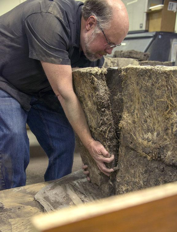 : According to ecologist Dave Wedin, the density of the roots in the sod bricks are what makes the bricks so sturdy, even after 110 years. Wedin tested the integrity of the sod by submerging a block in water - it had yet to dissolve in three weeks.