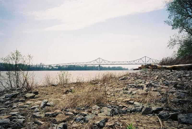 The Mississippi River bridge at Cairo, Ill.