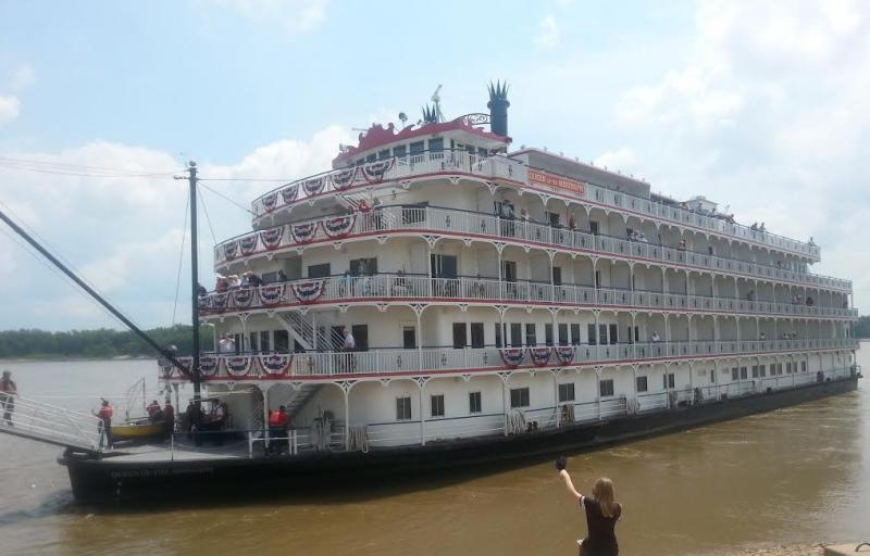 The Queen of the Mississippi docked at Cape Girardeau on Thursday, July 31, 2014.