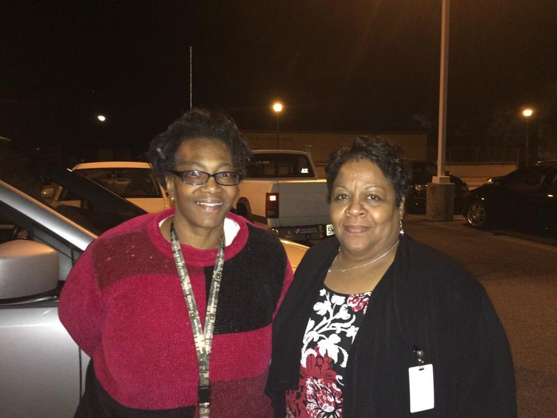 Social workers Regina Moore, left, and Zoia Martin, right, searched for homeless adults and youth during the annual point-in-time count.
