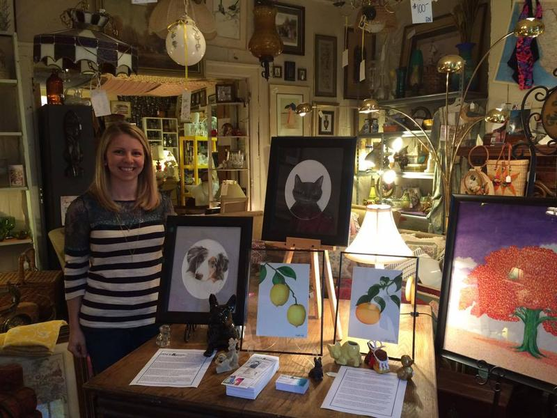 Local artist Miranda Taylor was one of many featured artist for this month's First Friday with the Arts.