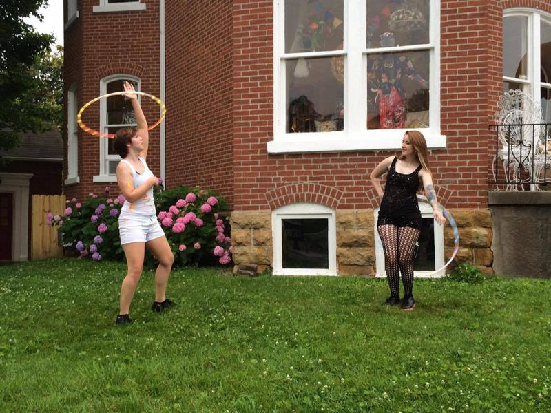 Local hoop dancers Stephanie Koch, left, and Chelsie Welker, right, say hoop dancing is all about freedom of expression.