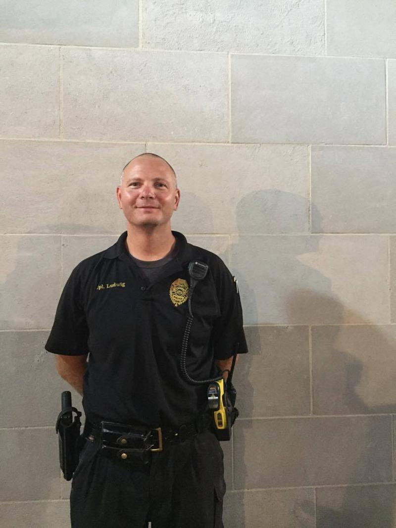 School Resource Officer, Chad Ludwig, served as a security guard during Homecomers.