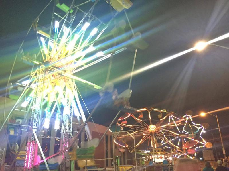 A ferris wheel lights up the sky at Jackson Homecomers.