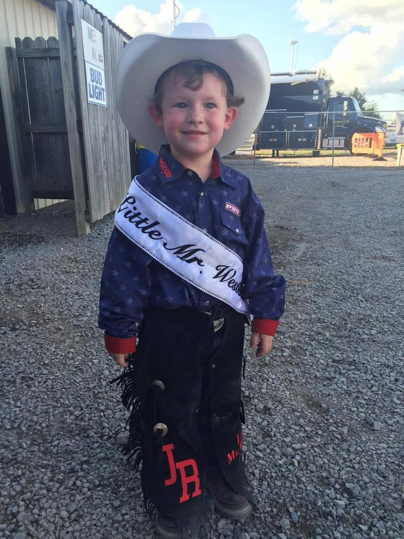 John Ross Williams was named Little Mister Western at the Jaycee Bootheel Rodeo.